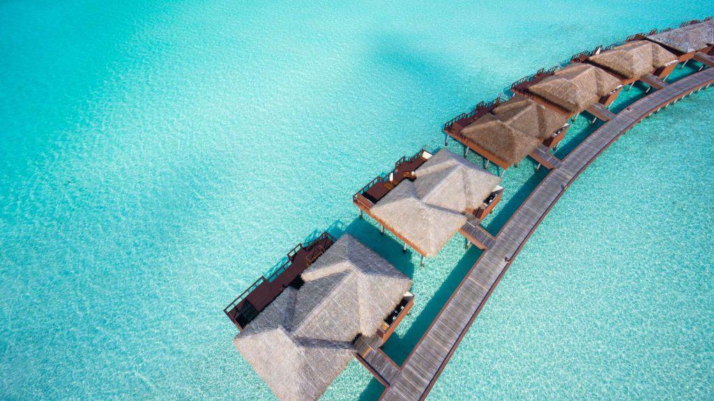 Overwater villaer på Maldivene.