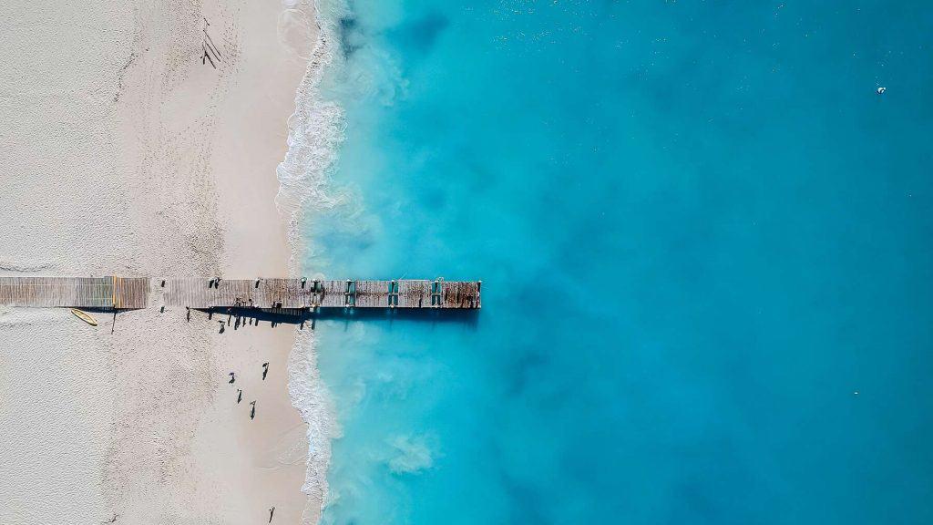 Grace Bay på Turks and Caicos.