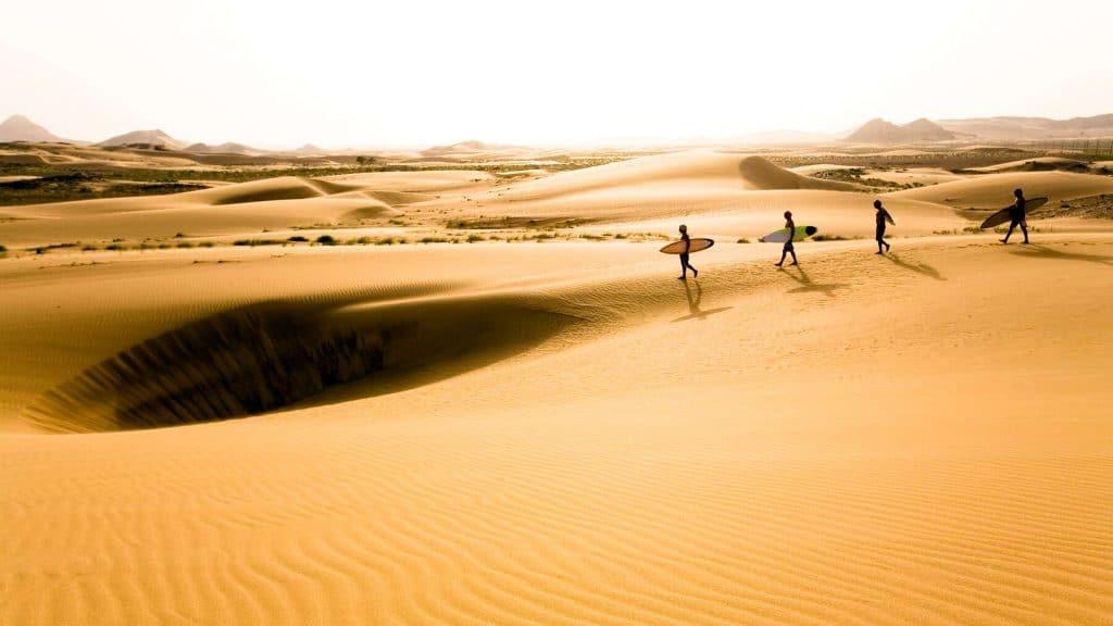 Sandsurfing i Oman.