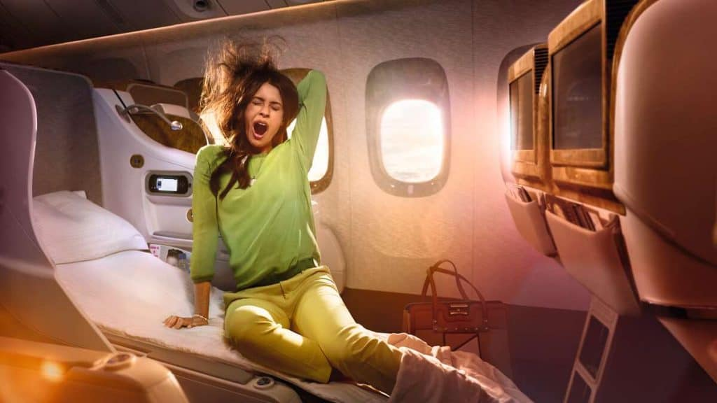 Emirates Airlines, Business Class.