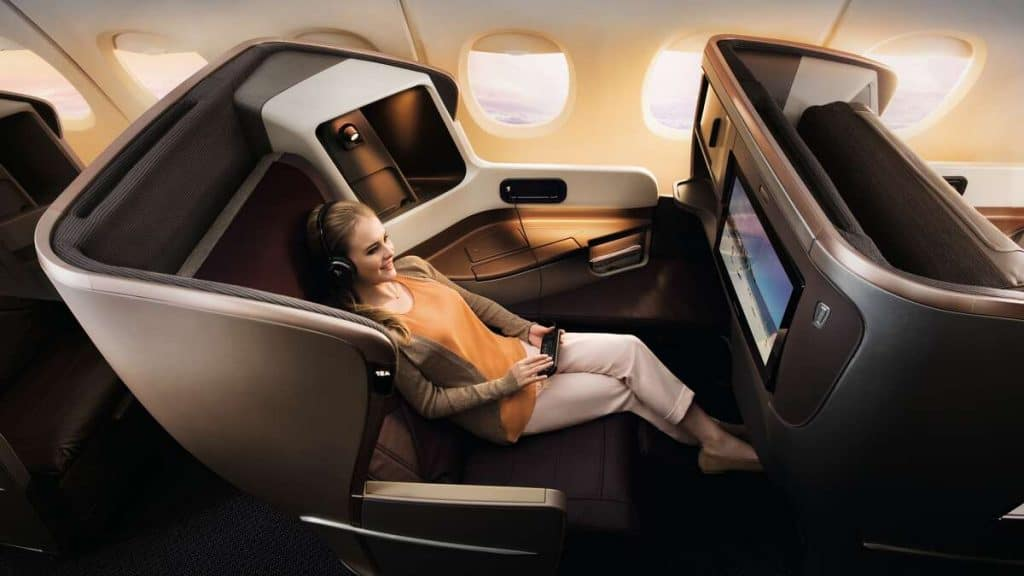 Business Class, Singapore Airlines.
