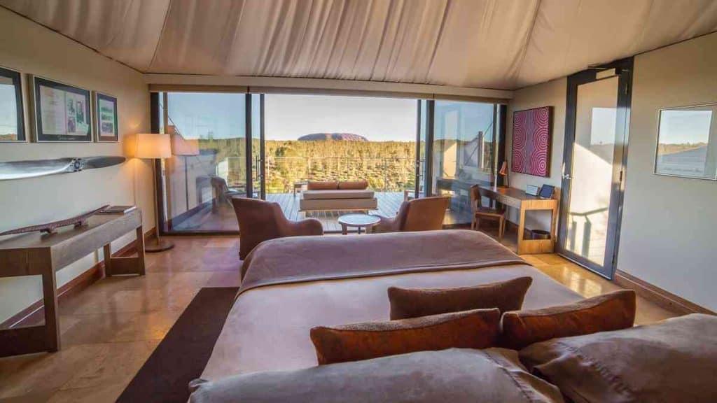 Longitude 131° luxury wilderness camp.