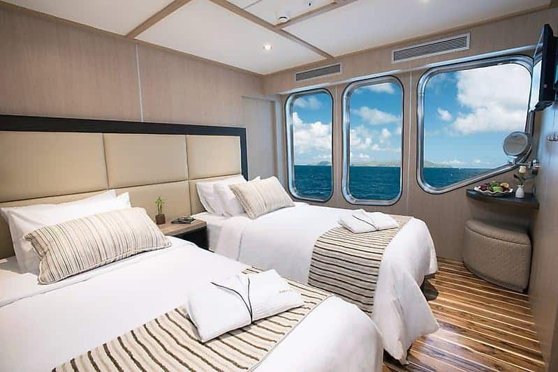 Luksuriøs innkvartering på skipet MV Origin.