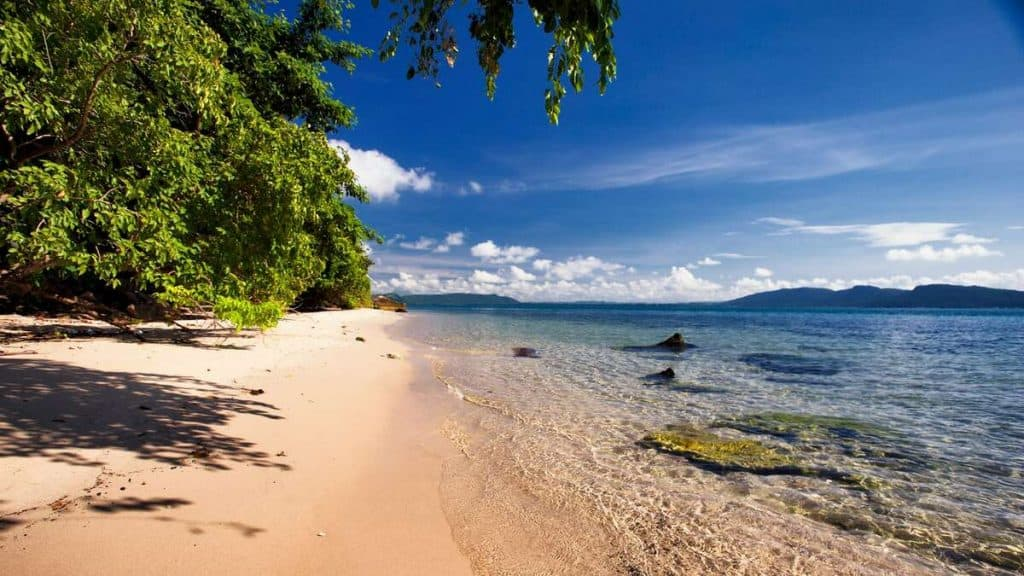 Idylliske strender på Six Senses Krabey Island.