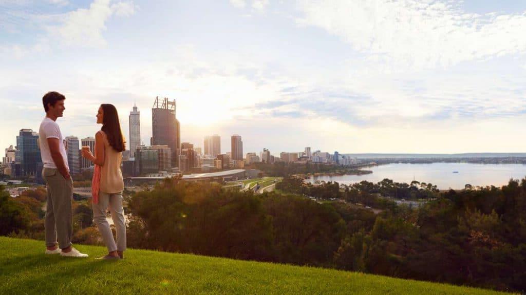 Skyline i Perth.