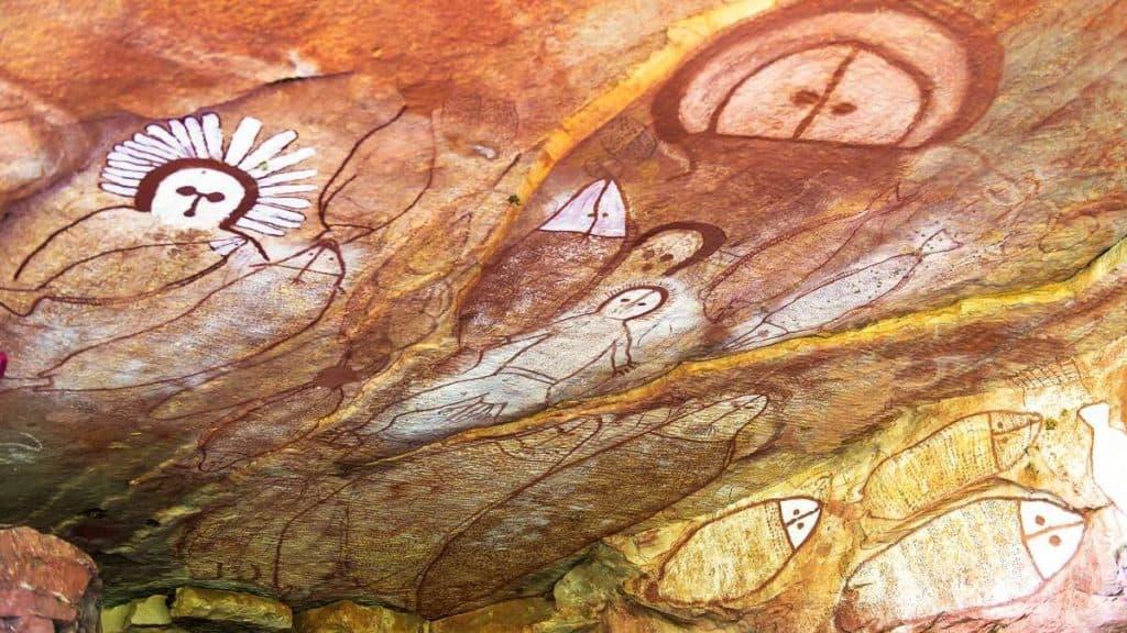 Rock Art i Northern Territory.