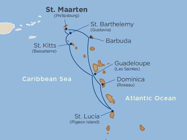 Reiserute Klassiske Karibien
