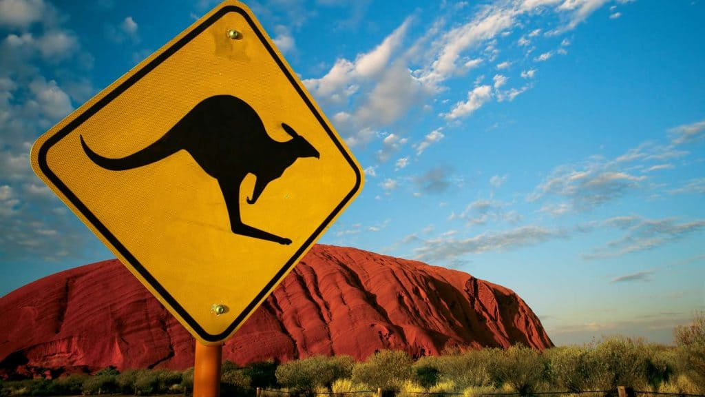 Uluru i Australia.