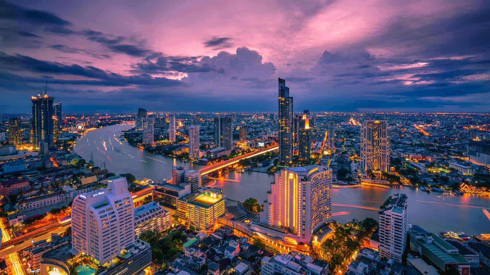 Bangkok by night.