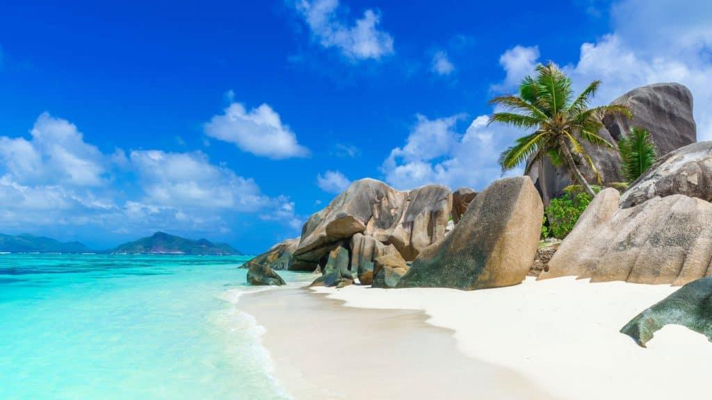 La Digue på Seychellene.